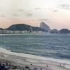 Sunset over Copacabana Beach - 1980