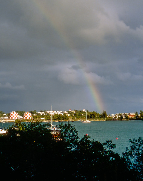 Rainbow over the marina