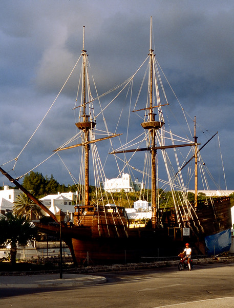 Barry by docked Tall Ship