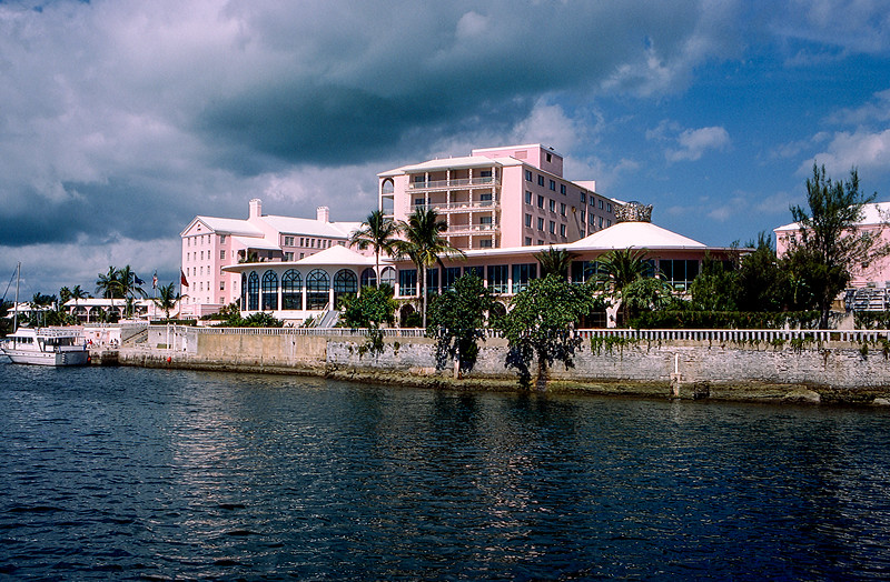 Princess Hotel as seen from the ocean