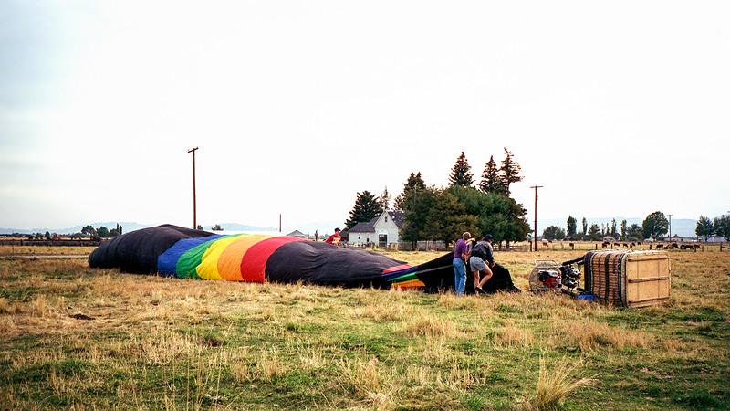 Hot air balloon ride taken near Reno, Nevada - 1993