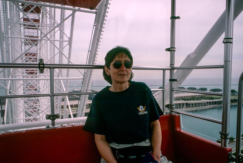Mercedes on the Navy Pier's Ferris wheel
