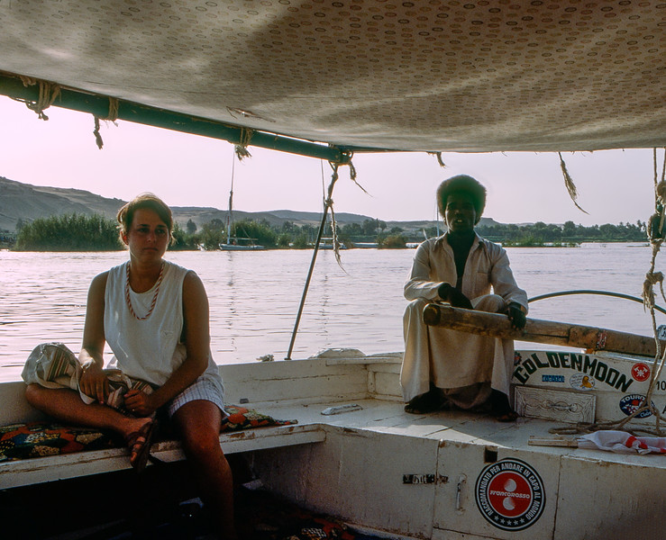 On the 'Golden Moon' sailboat
