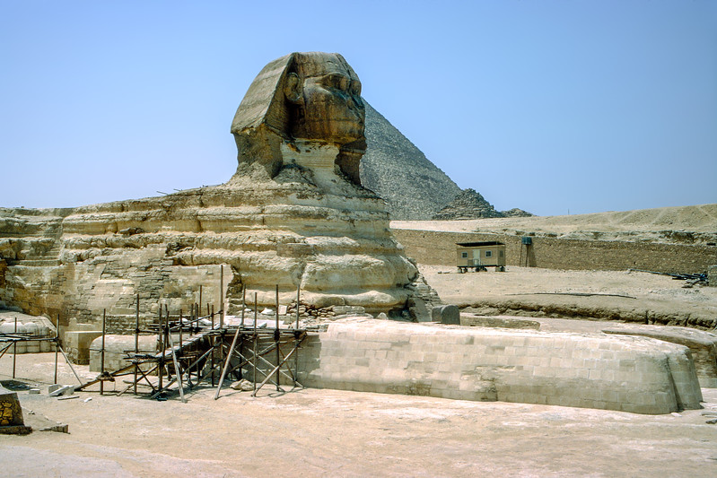 Great Sphinx under restoration