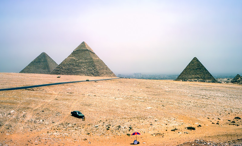 Like a day at the beach but with 3 pyramids & no water
