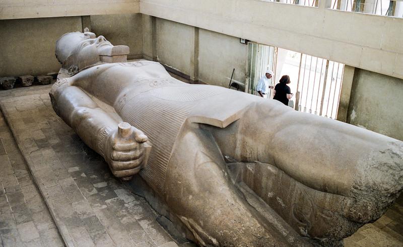 Colossus Ramses II - Limestone carving 34 feet in length