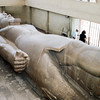 Colossus Ramses II - Limestone carving 34 feet in length