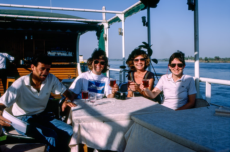 Mercedes, tour mates & guide on our Nile River cruise