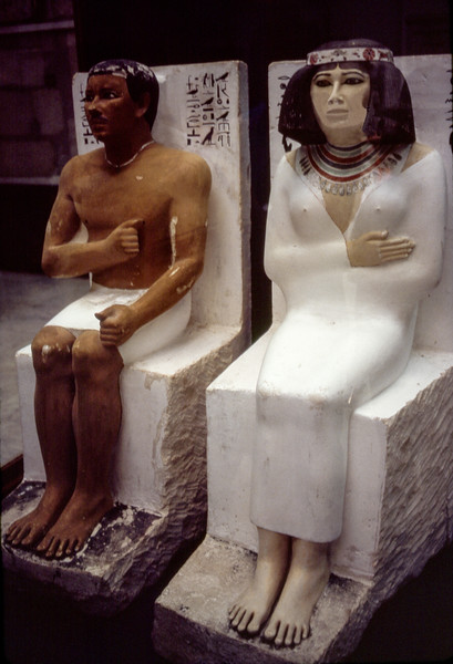 Prince Rahotep & his wife Nofret - 4th dynasty