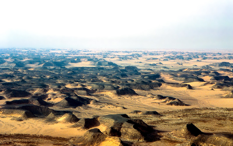 Aerial view of the Sahara