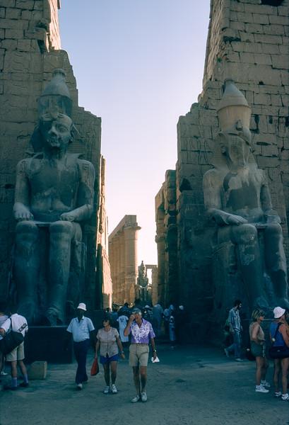 Entering Luxor Temple