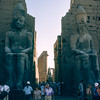 Entering Luxor Temple