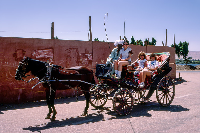 Luxor carriage ride with tour mates