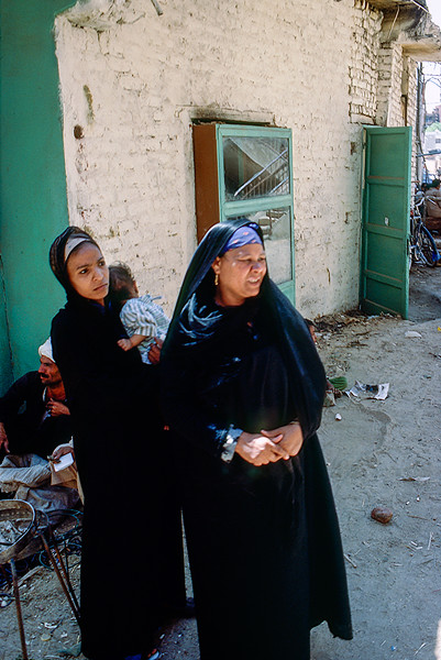 Egyptian women with child