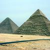 Pyramids of Khufu (left) & Khafre (right)