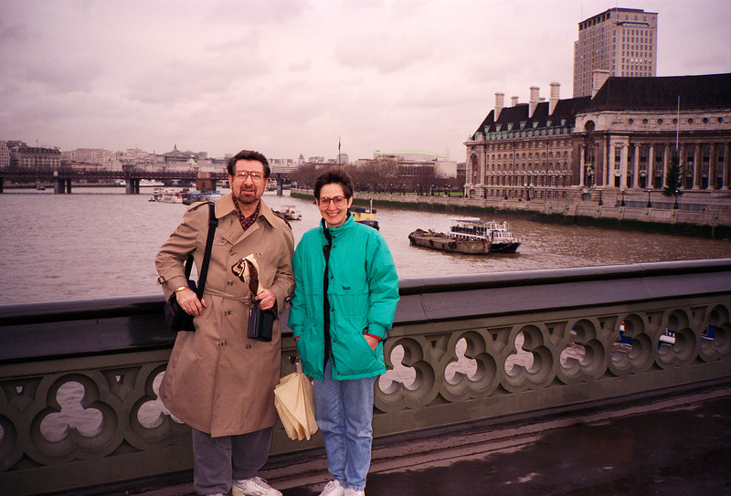 Barry Weinberg with Mercedes in London - 1994