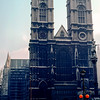 Westminster Abbey under restoration - 1981