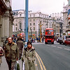 Touring on foot by Piccadilly Circus - 1983