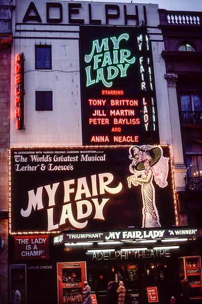 Adelphi Theatre - My Fair Lady - 1981