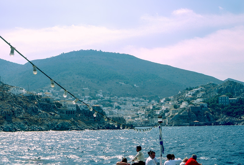 Approaching the island of Hydra - our first port of call