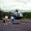 Helicopter ride over the active volcano