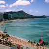 Diamond Head & Waikiki - hotel view - 1989