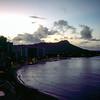 Waikiki & Diamond Head after sunset - 1989