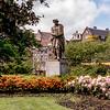 Amsterdam - Garden with Rembrandt statue
