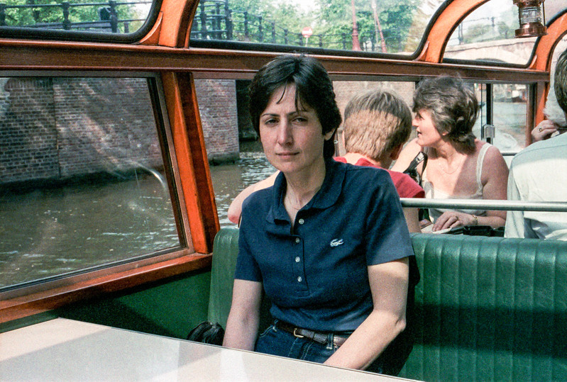 Tired Mercedes during canal ride in Amsterdam - 1985