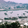 Macau Harbor with Chinese Junk boats  - 1980