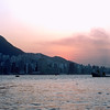 Hong Kong harbor just after sunset - 1980