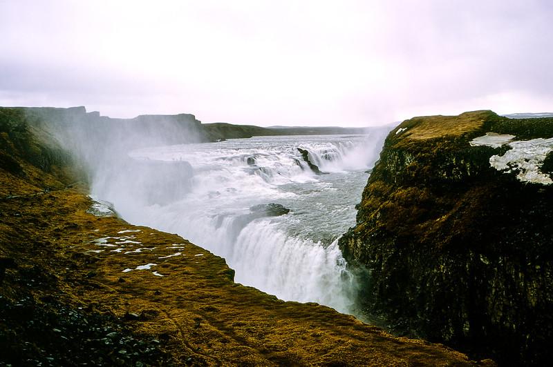 Gullfoss Waterfalls - 105 foot drop