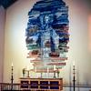 Skalholt Church - Nina Tryggvadottir mosaic above altar
