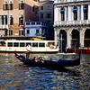 Venice - Gondola on the canal - 1984