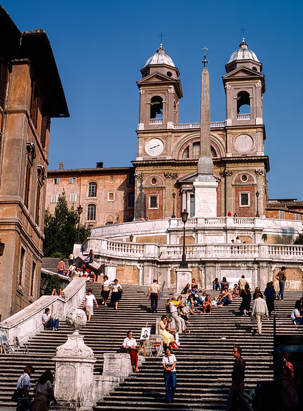 Rome - The Spanish Steps (1725) - 1981