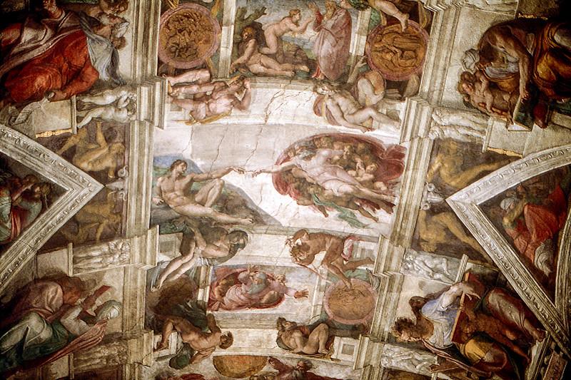 Sistine Chapel ceiling - Michelangelo's frescos (1508-1512) - 1981