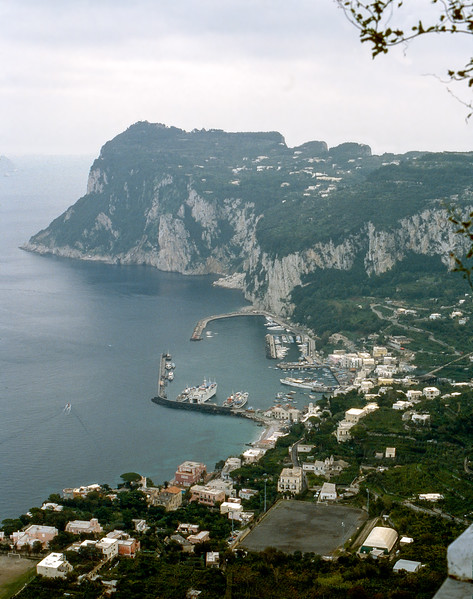 Capri coast from Villa San Michele