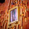 Our Lady of Guadalupe hung above the Basilica's altar