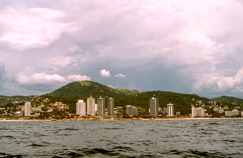Panorama of Acapulco from boat - 1982