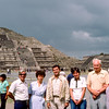 Mercedes, Dad & Mom with our guide by the pyramid - 1982