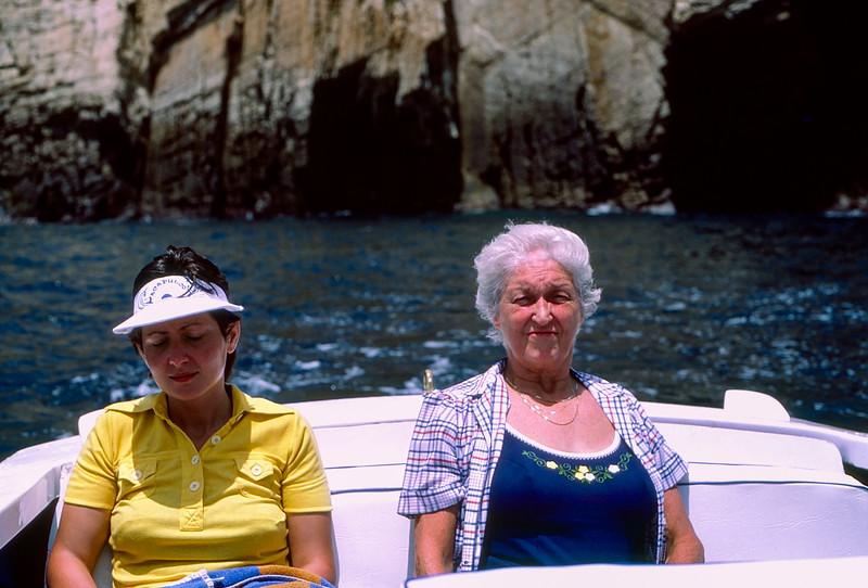 Mercedes & Mom on boat - 1982