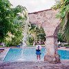 Puerto Vallerta - 1995 - Mercedes by the pool