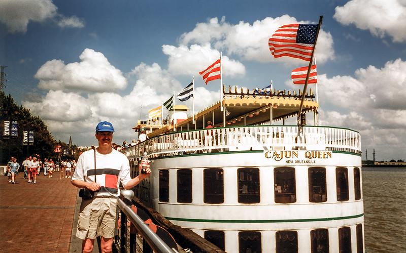 New Orleans Riverwalk - Alongside the Cajun Queen - 1997