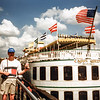 New Orleans Riverwalk - Alongside the Cajun Queen - 1997