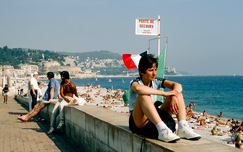 Nice - Beach & the Promenade des Anglais - 1985