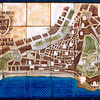 Tile map of old town Nice, France - 1985