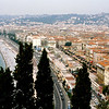 Aerial view of the beach & Promenade des Anglais