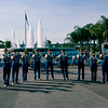 Epcot 1984 - Brass band by fountain