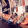 Paris - Mercedes & Lisa await the subway train