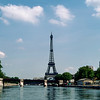 The Eiffel Tower (1889) soaring above the Seine River - 1981